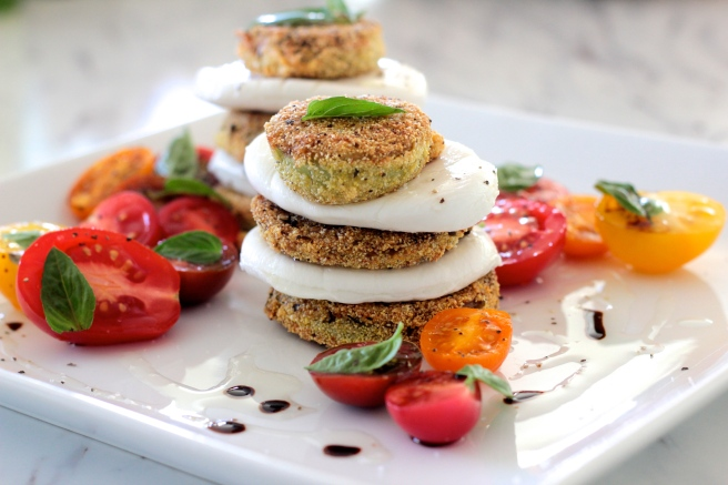 fried green tomato caprese salad 2