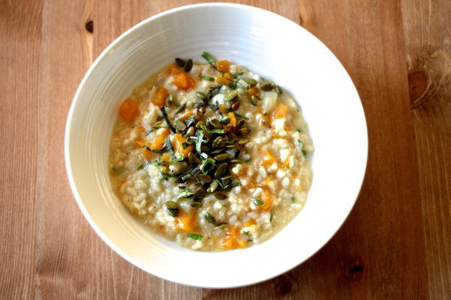 pumpkin basil risotto finished 2