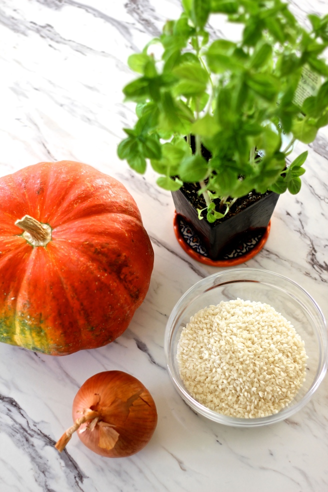 pumpkin basil risotto ingredients