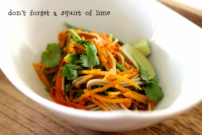 thai pumpkin soba noodles 5