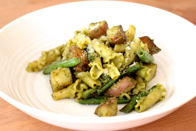 green bean potato pesto