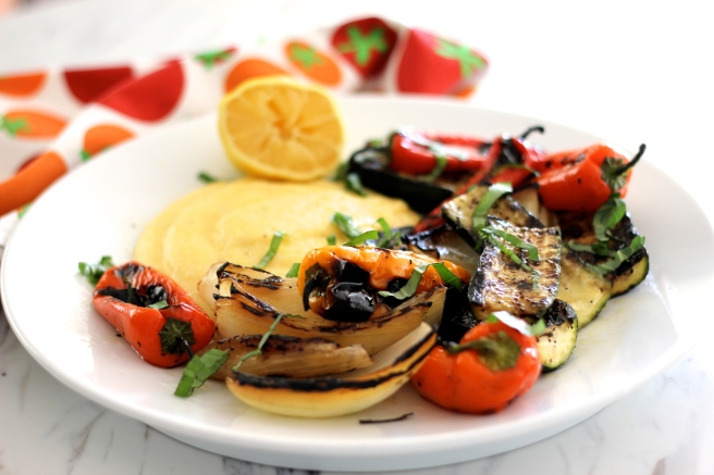 summer vegetables and creamy polenta 3