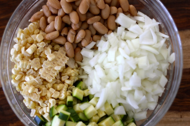 summer succotash with rice cakes 2